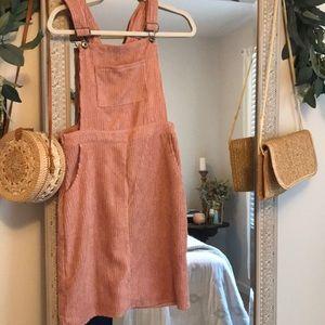 Women's pink overall dress